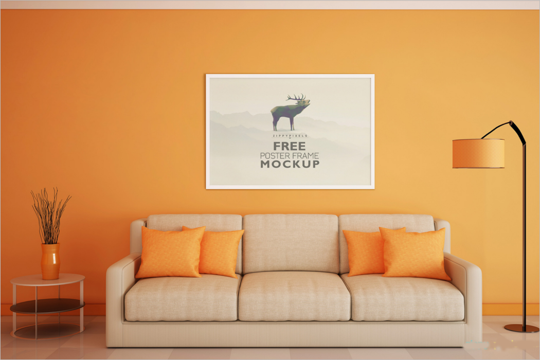 Beautiful Poster Frame Mockup
