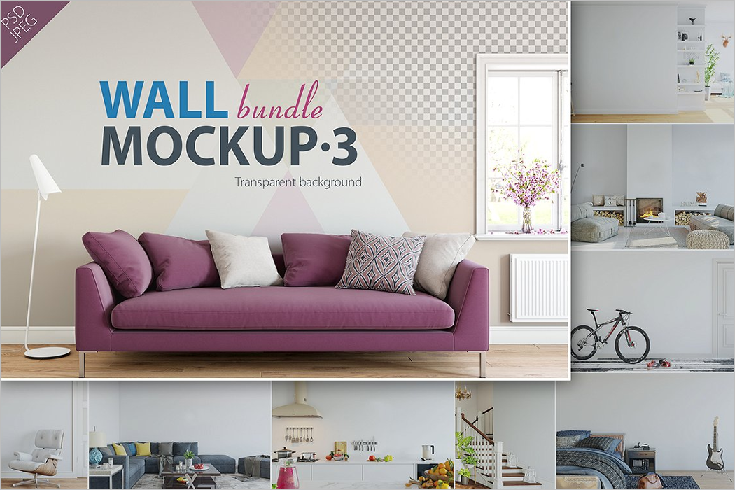 Bundle Wall Mockup