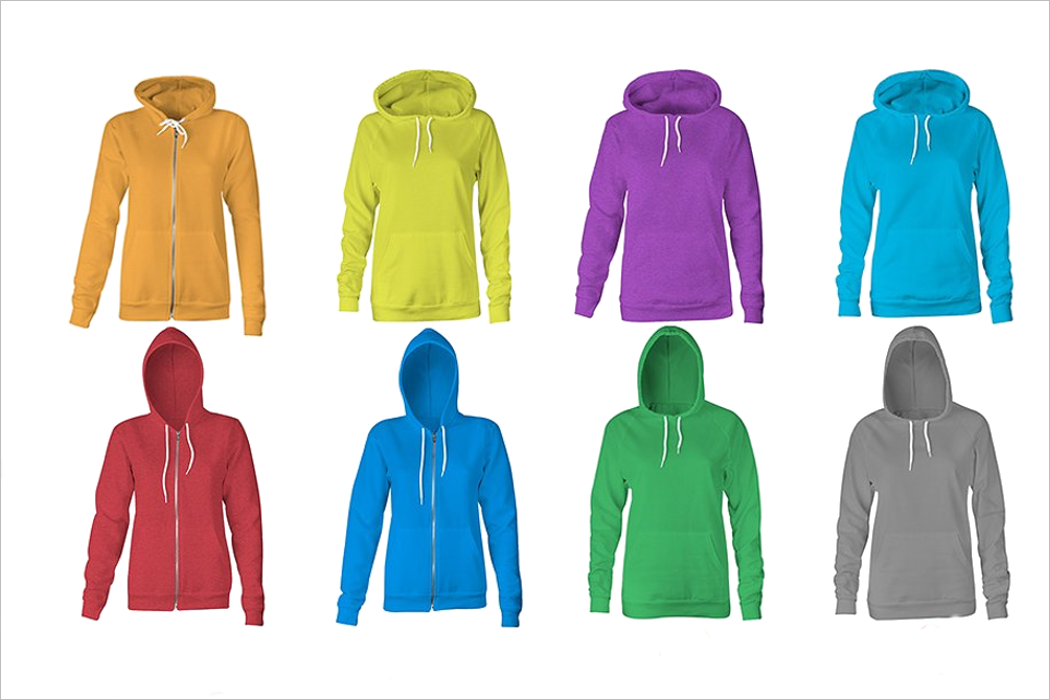 Coolletion Of Women Hoodies Mockup