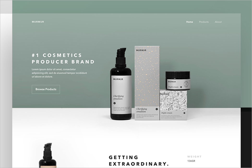 Cosmetic Website Mockup Template