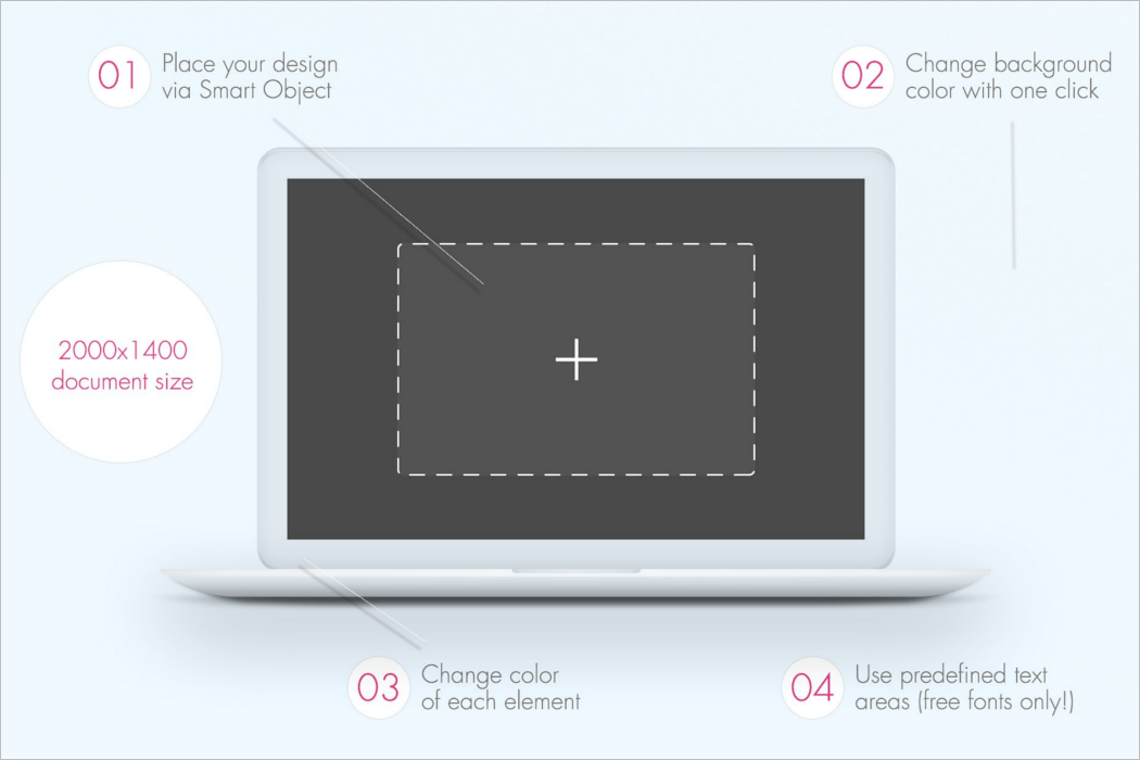 Editable Laptop Mockup Design
