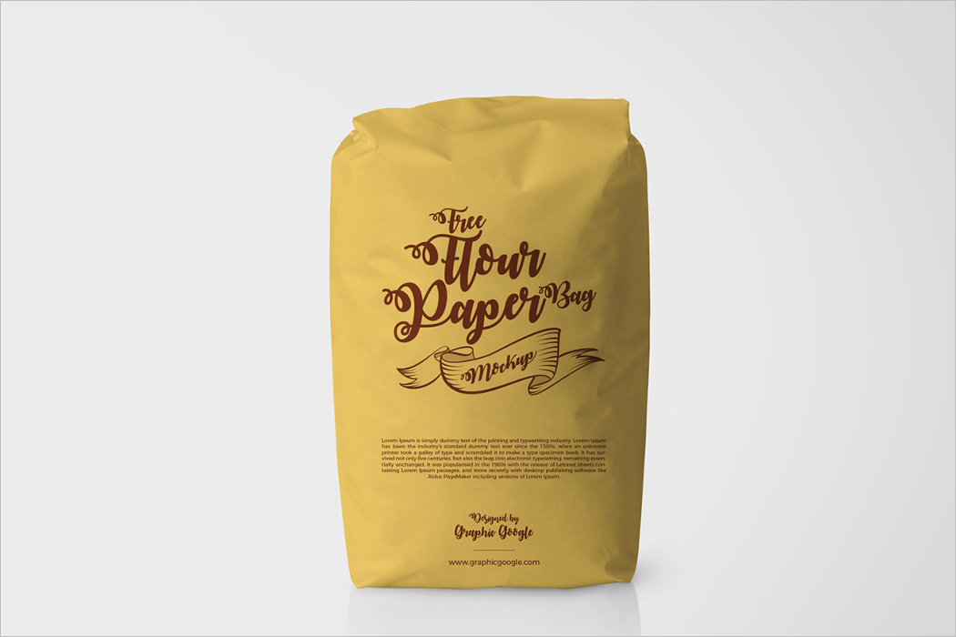 Flour Free Bag Mockup Design