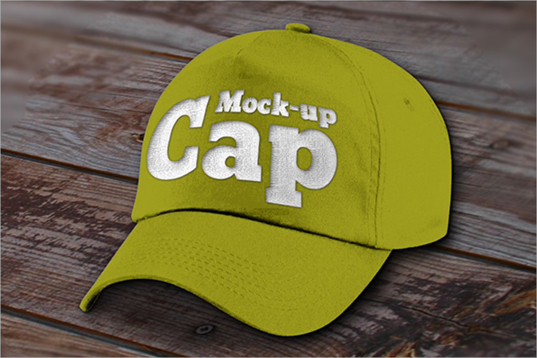 Green Cap Mockup Design