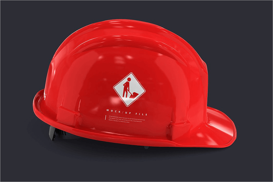 Hard Hat Mockup Design