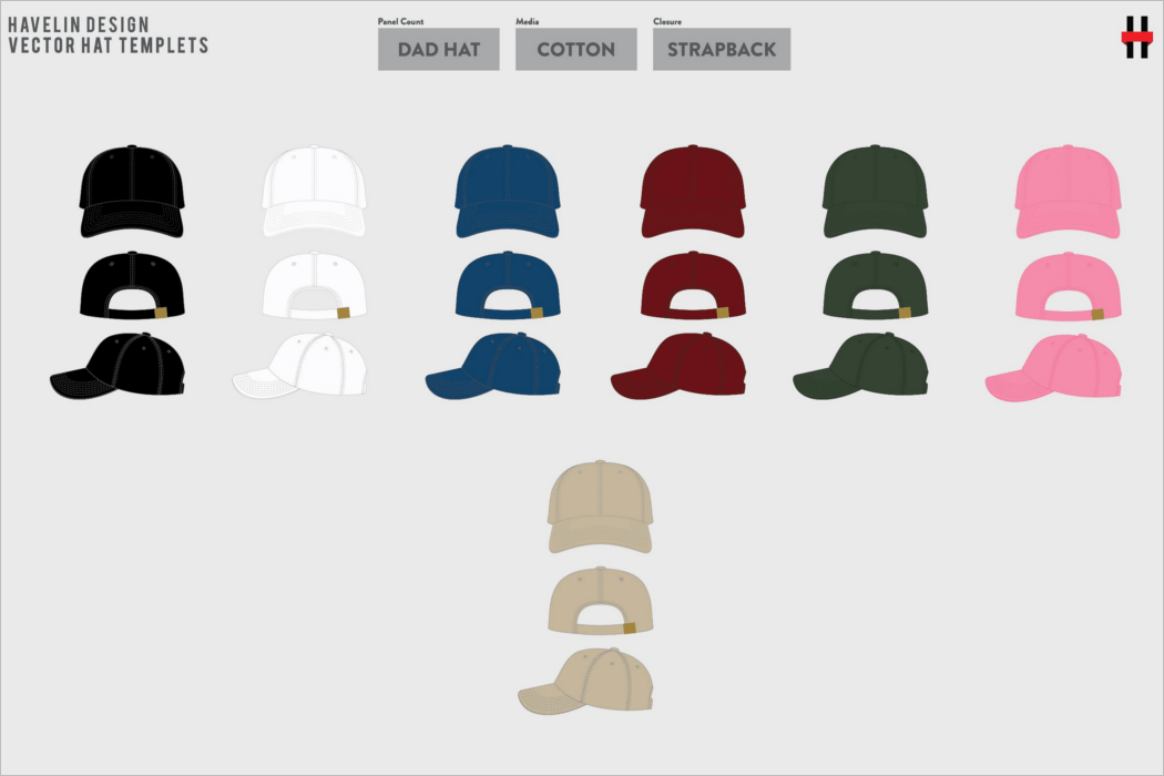 Hat Mockup Design Vector