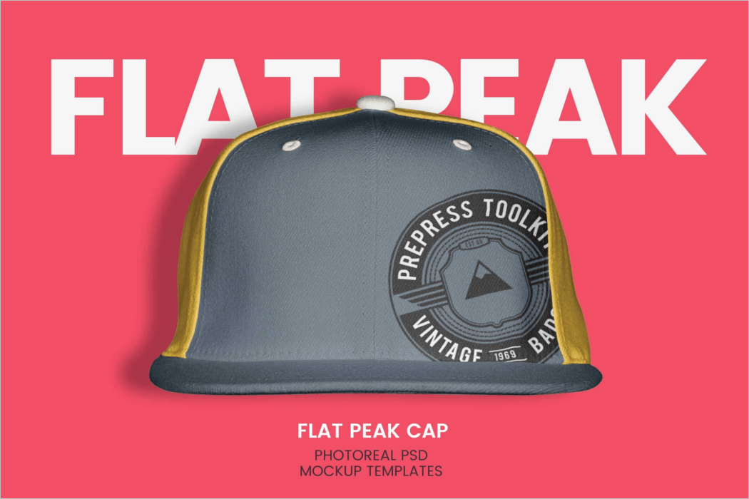 High Resolution Cap Mockup Design