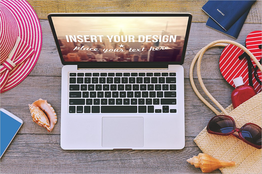 Laptop Mockup Design Vector