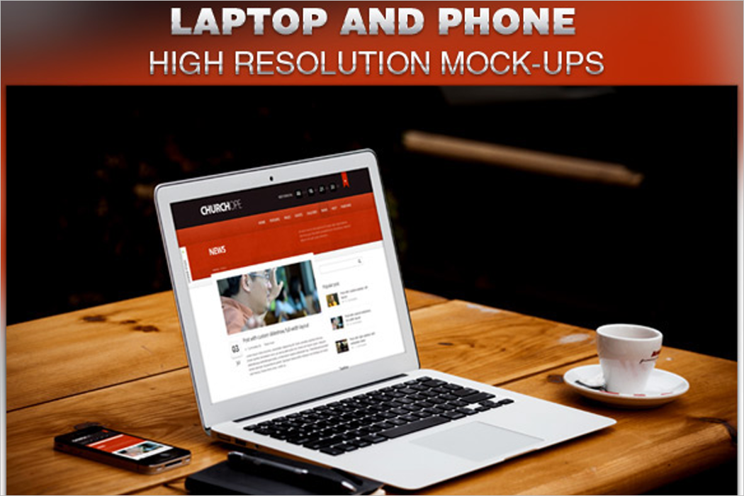 Laptop & Phone Mockup Design