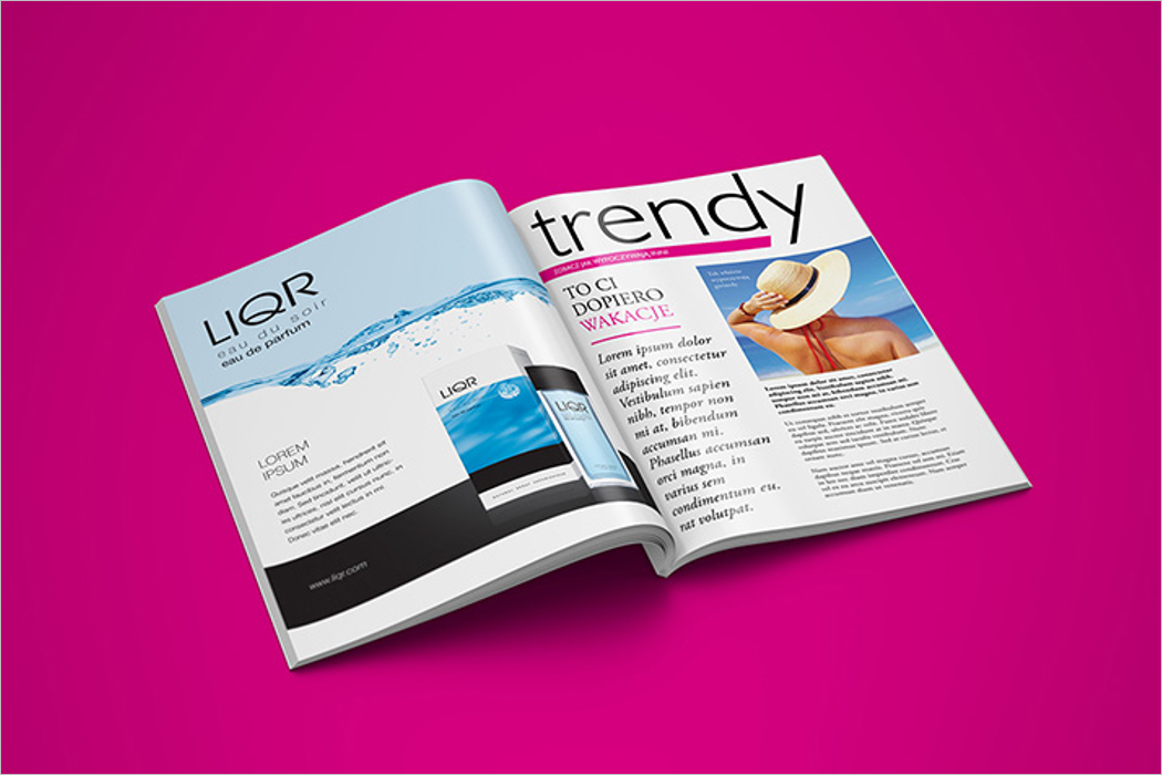Latest Magazine Mockup Template
