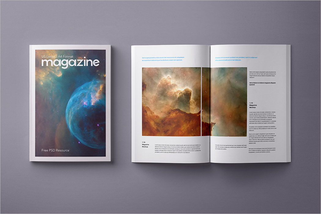 Layout Magazine Mockup
