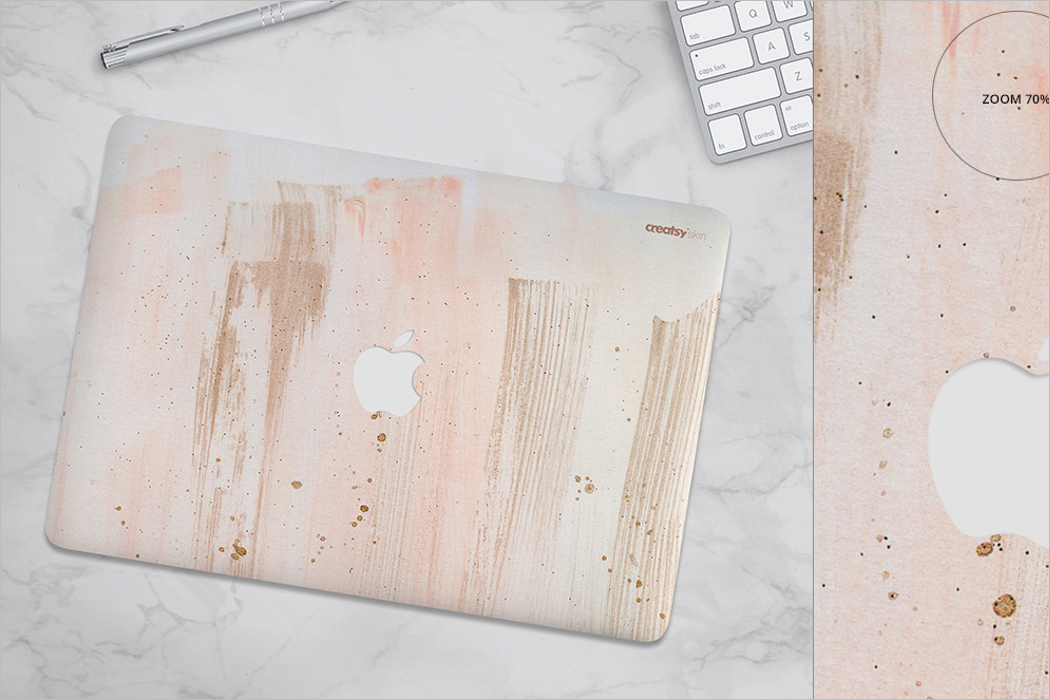 MacBook Skin Case Mockup Design