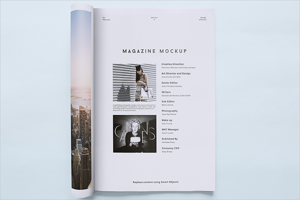 Magazine Mockup Illustrator