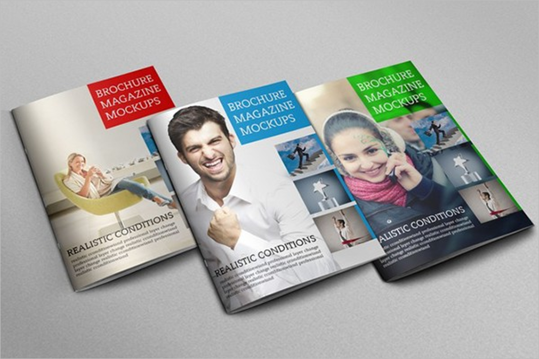 Pack Of Magazine Mockup Design