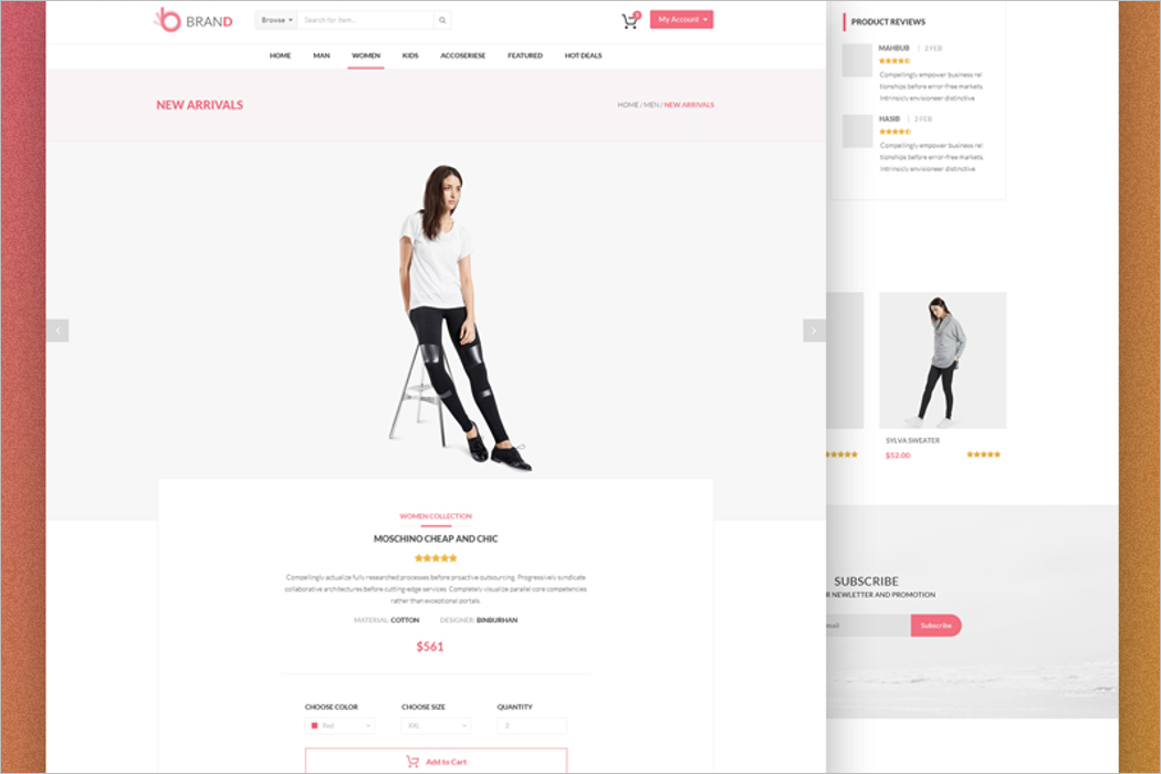Product Page Website Mockup
