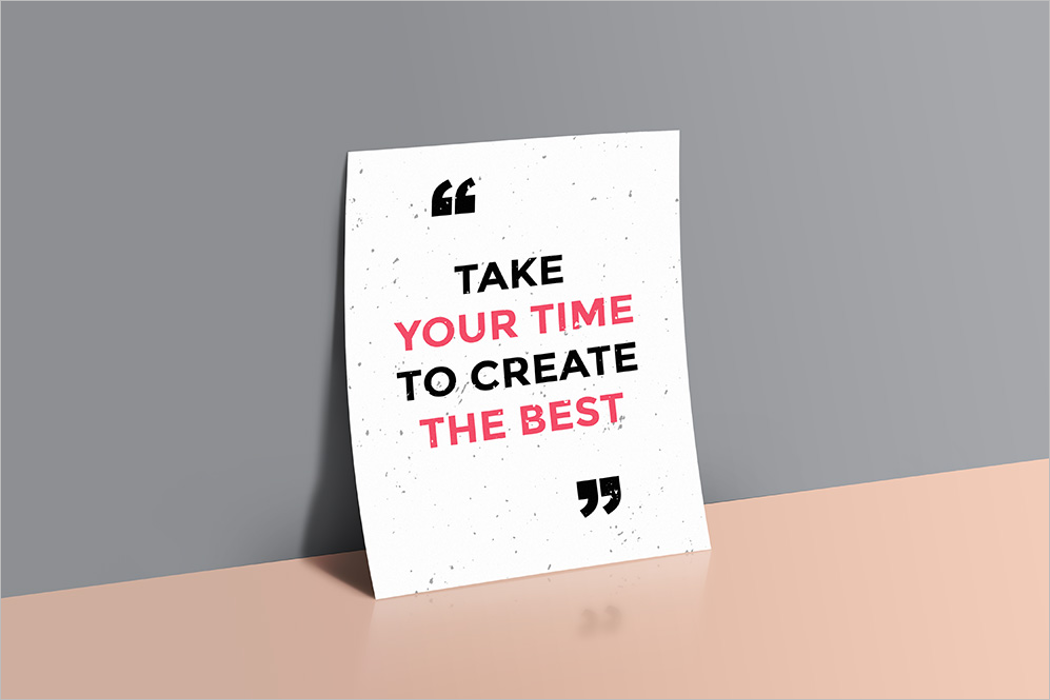 Quote Poster Mockup PSD