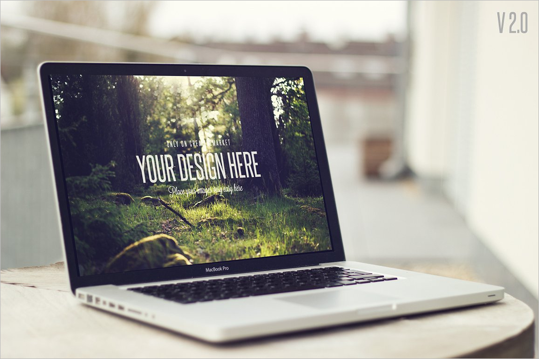Realistic Laptop Mockup Design
