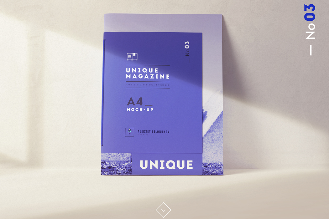 Sample Magazine Mockup Design