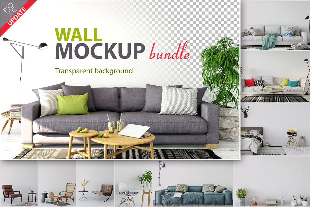 Transparent Wall Mockup