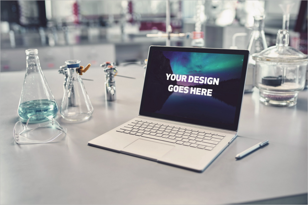 Windows Laptop Mockup Design