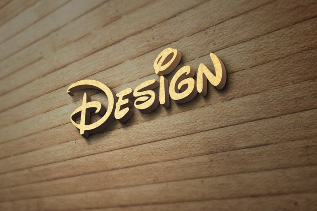 Wood Wall Logo MockUp