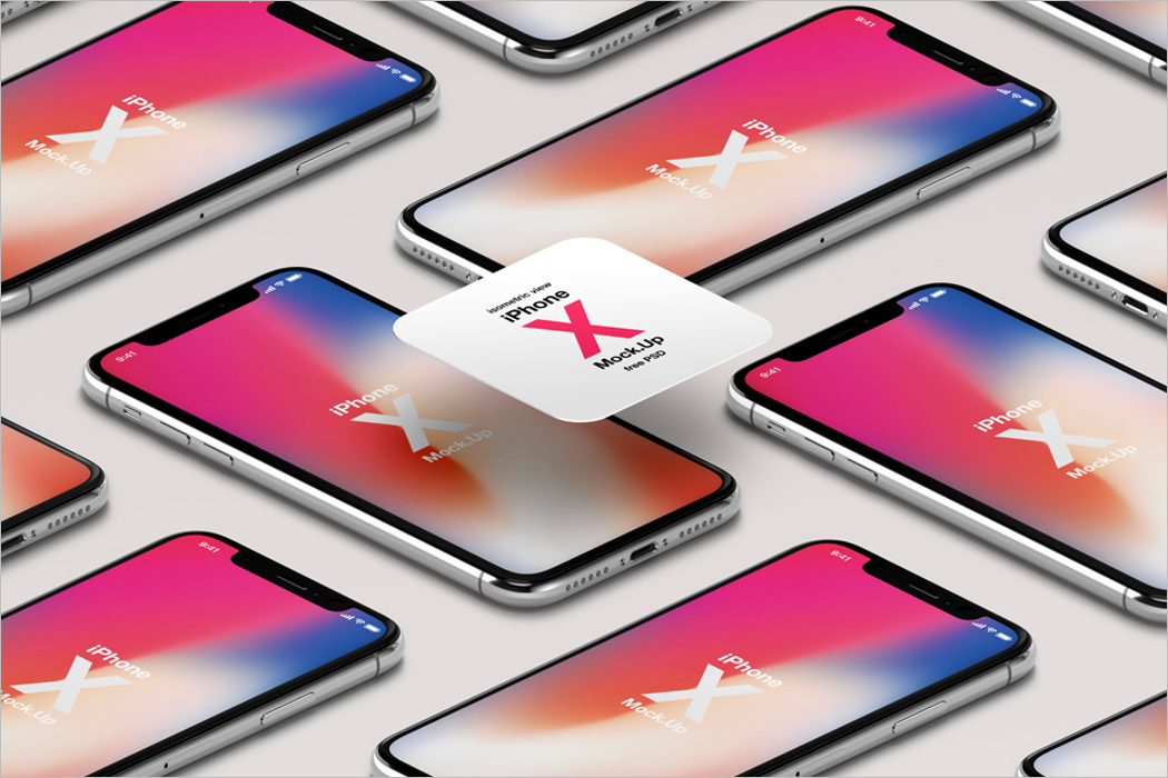 iPhone X Psd Mockup Vector