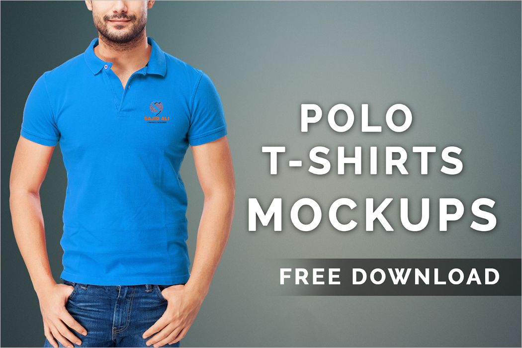 polo t-shirt mockup template free download