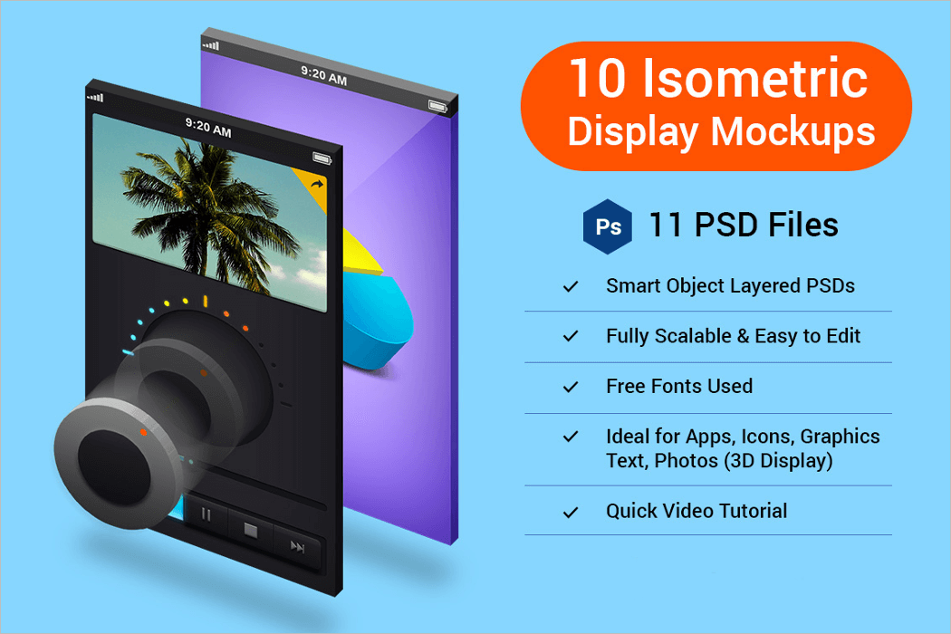 3D Display Mockup PSD