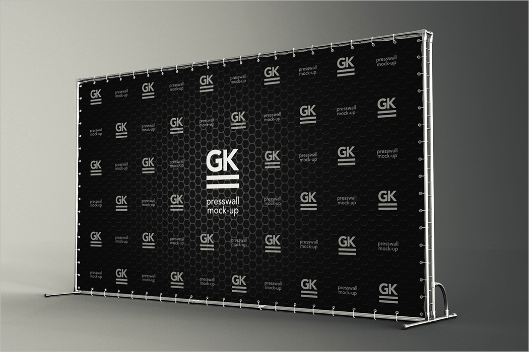 3d wall logo mockup free download