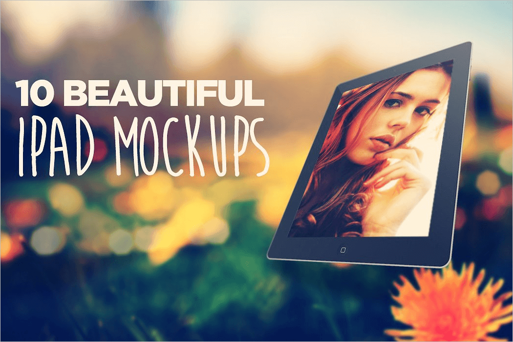 Beautiful Ipad Mockup PSD