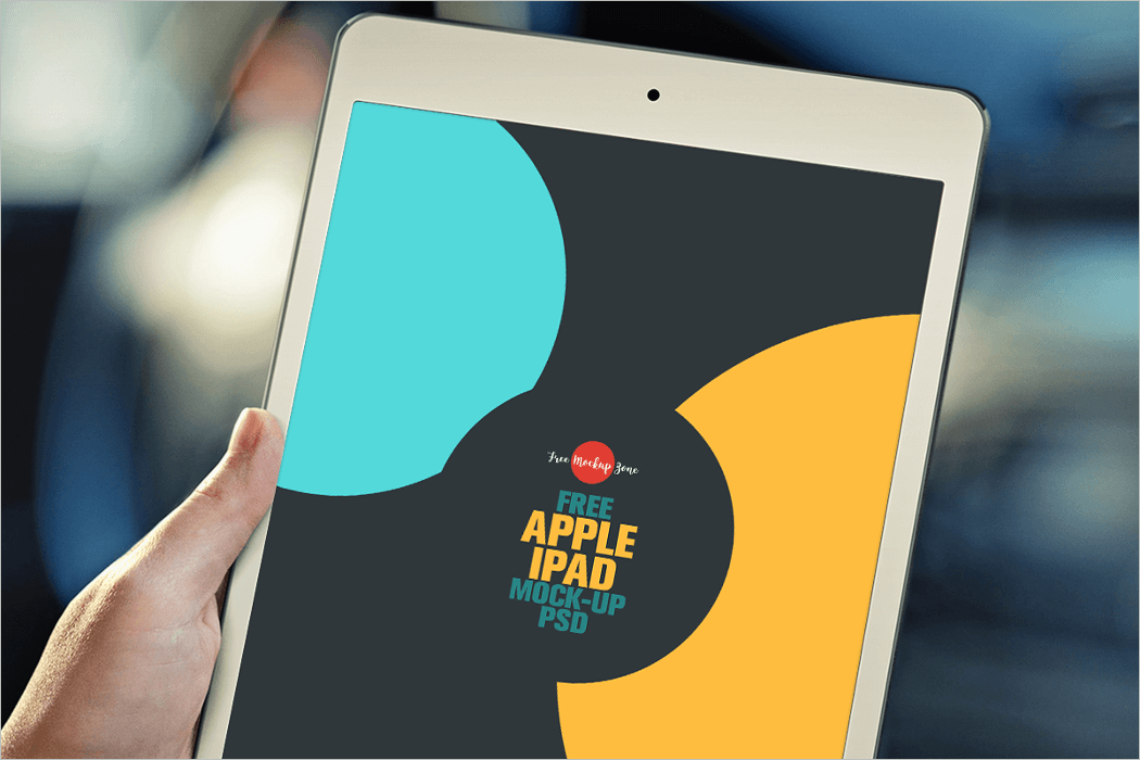 Free Apple iPad Mockup PSD