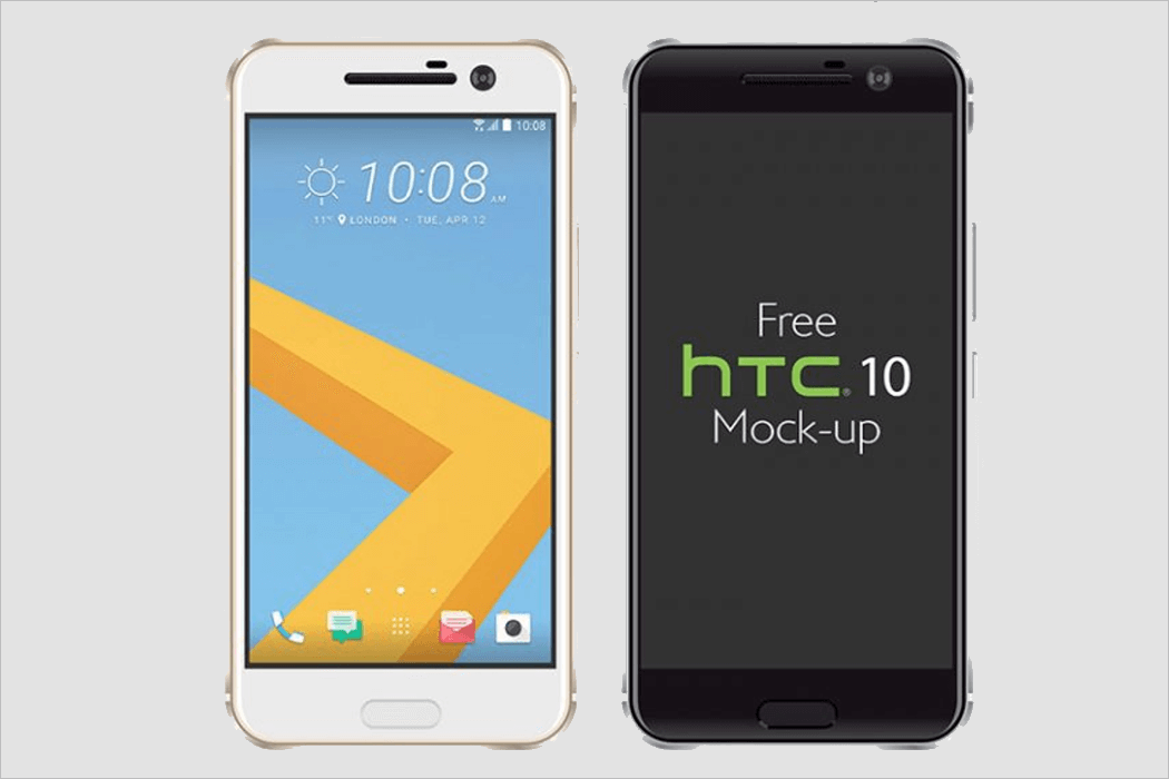 HTC Mobile Mockup Design