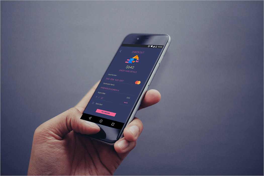 Mobile In Hand Mockup Design