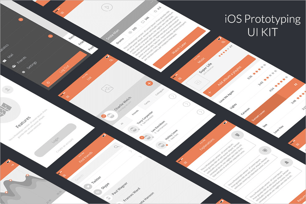 Mobile UI Mockup Design