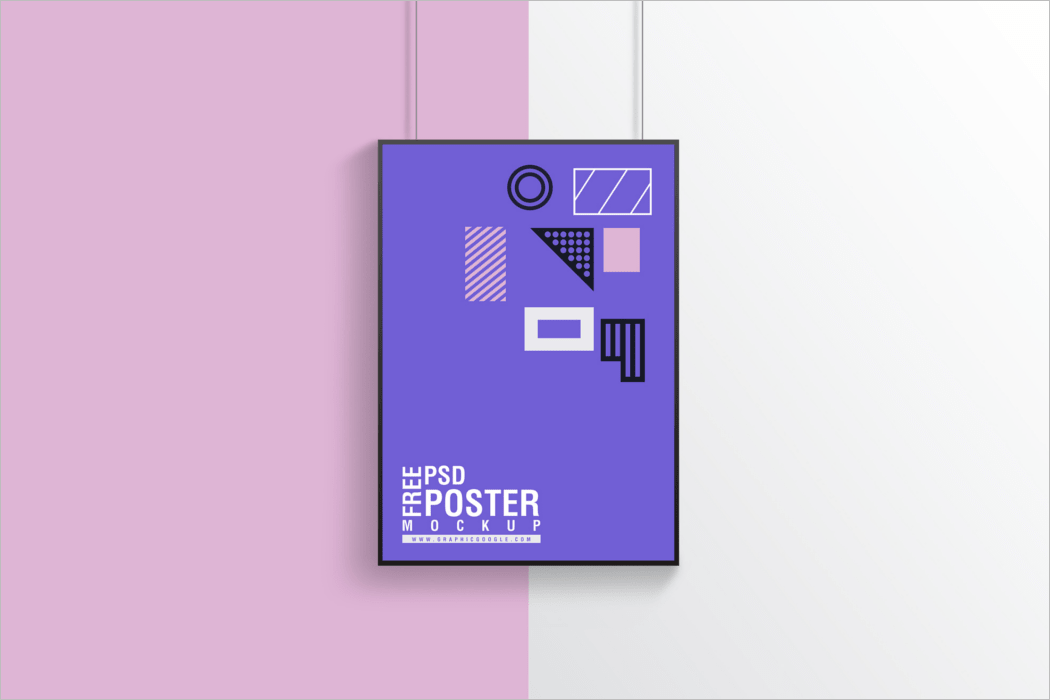 Multi Colour Background Poster Mockup
