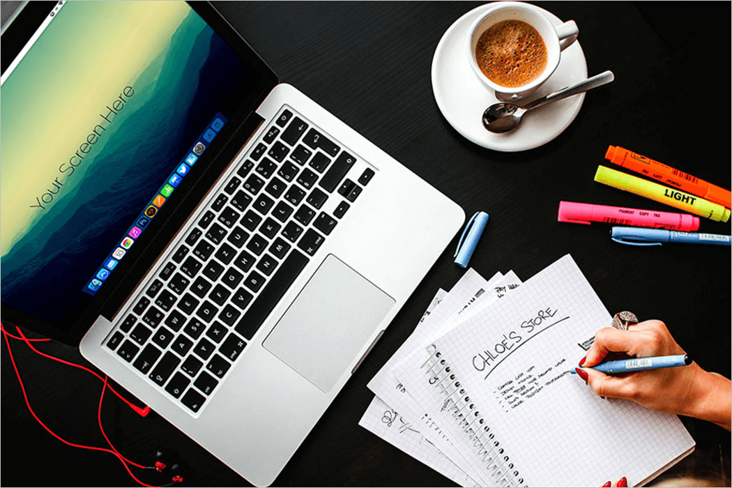 Office Laptop Mockup Template