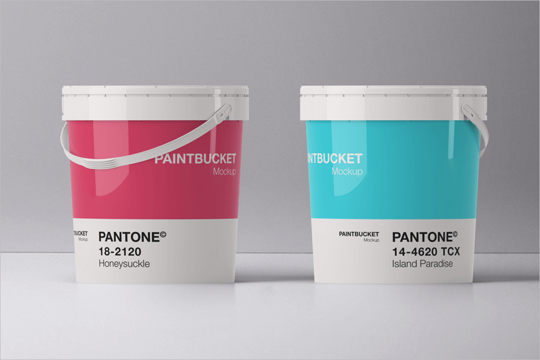 Paint Bucket Mockup 3D Template