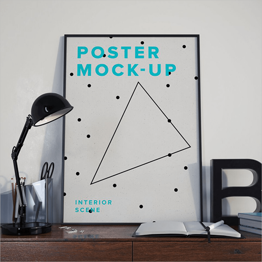 Photorealistic Poster Mockup Download
