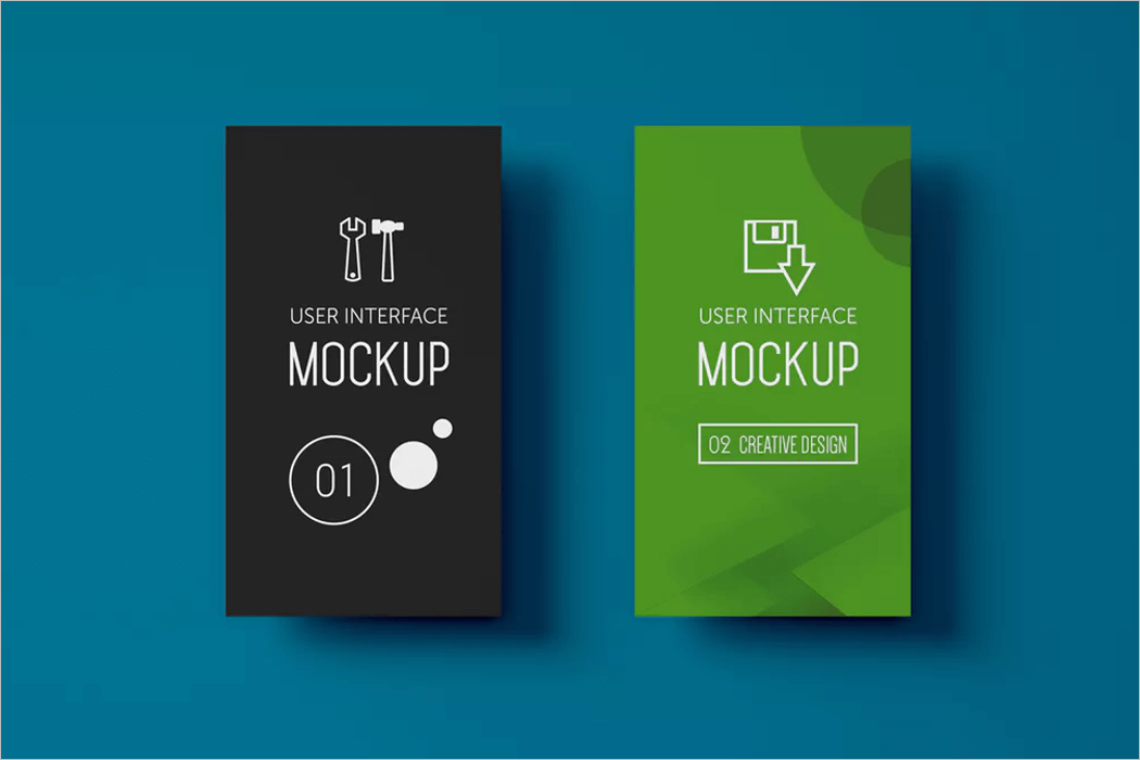 Set Of UI Mockup Design