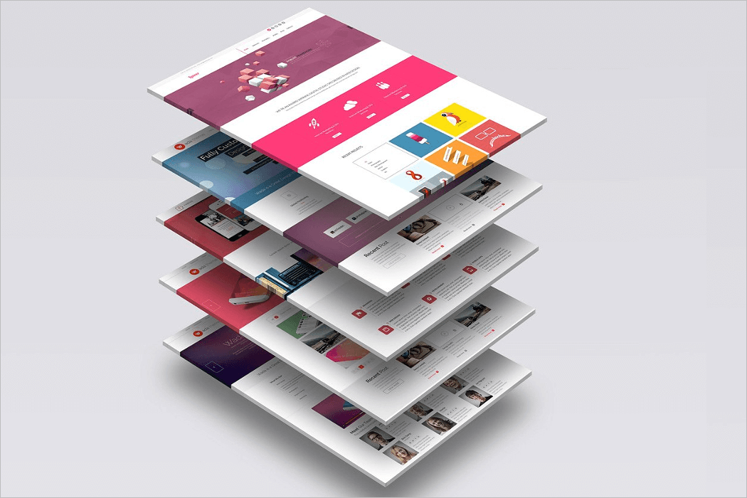 Website UI Mockup Design