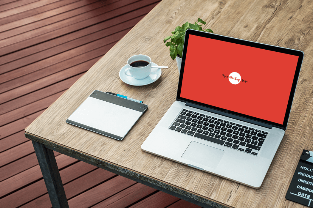 apple laptop mockup psd