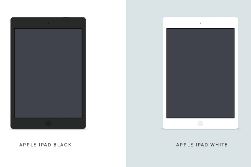 Black & White iPad Mockup