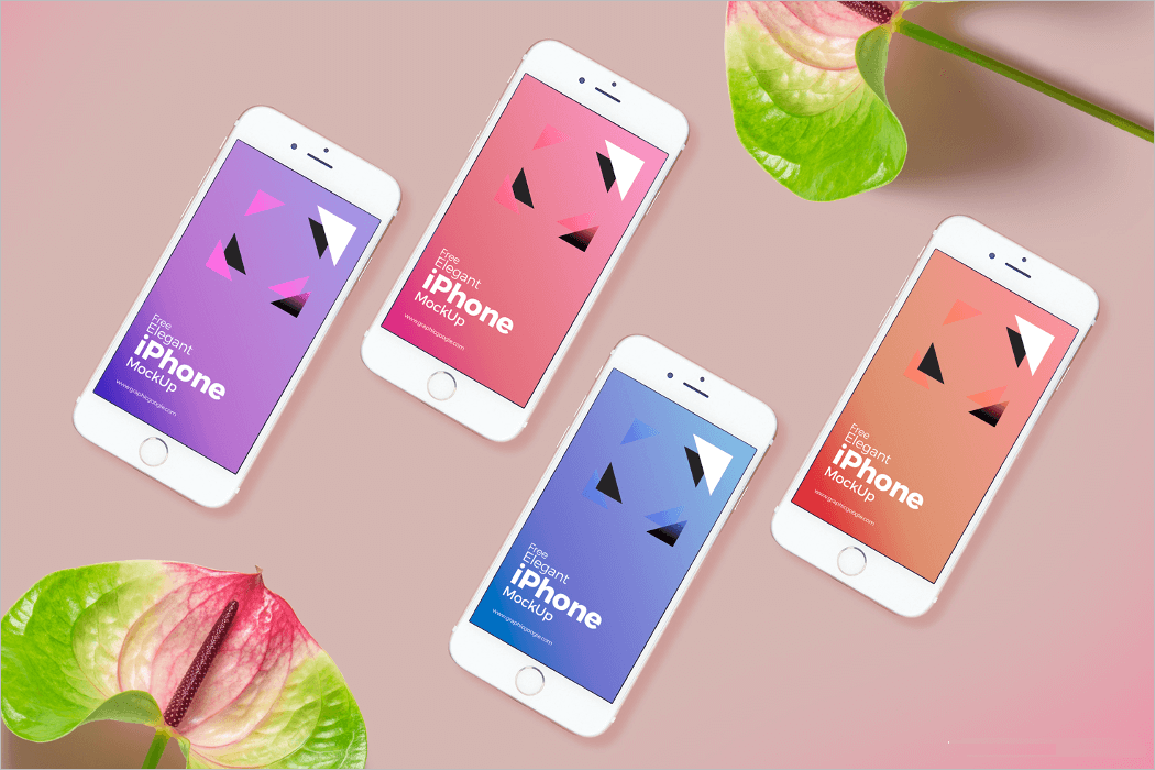 iPhone UI Mockup Design