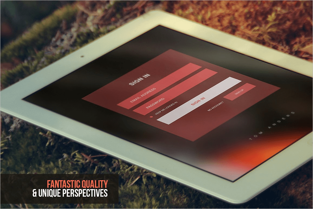 ipad home screen mockup