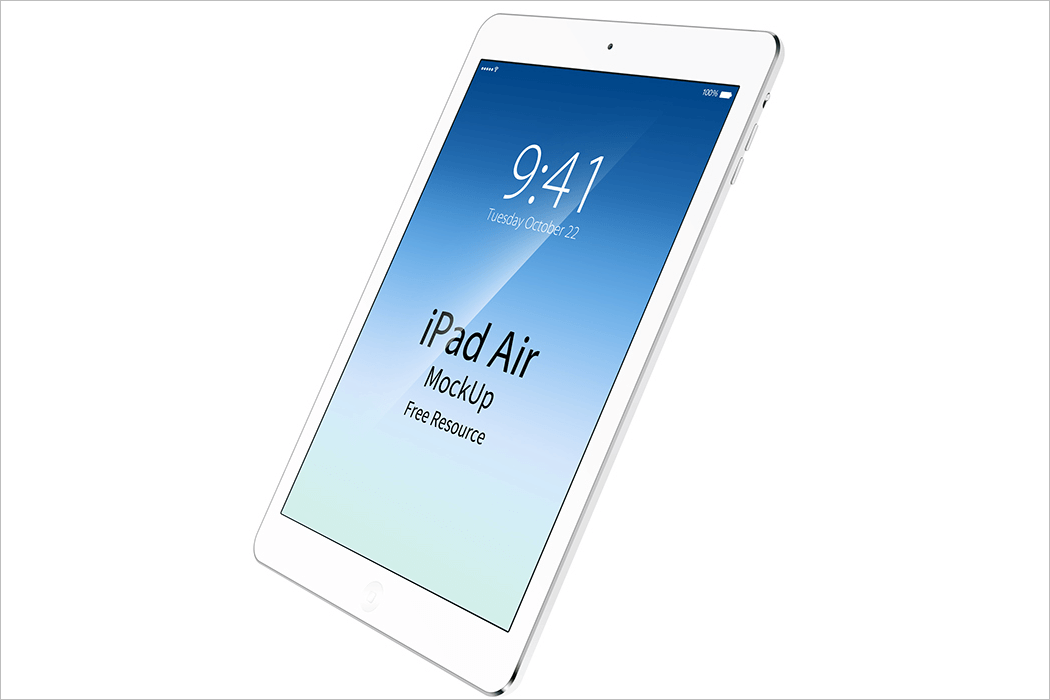 ipad mockup white background
