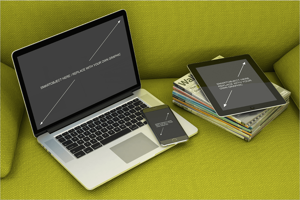 macbook ipad iphone mockup