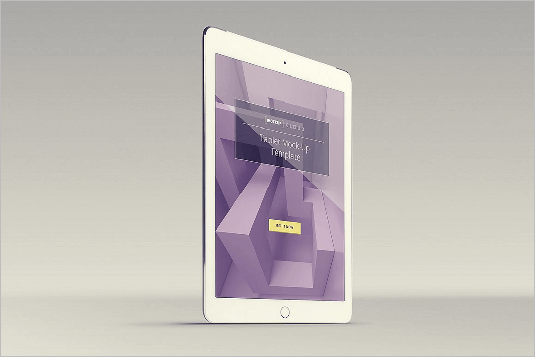 white ipad mockup psd