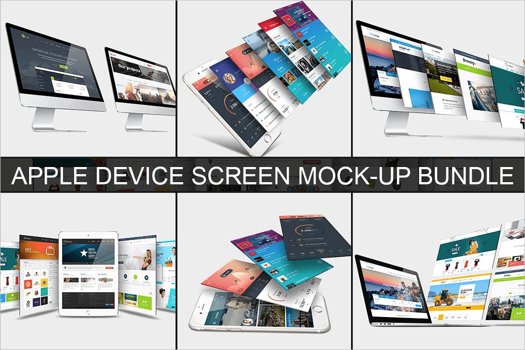 Apple Device Screen Mockup Bundle