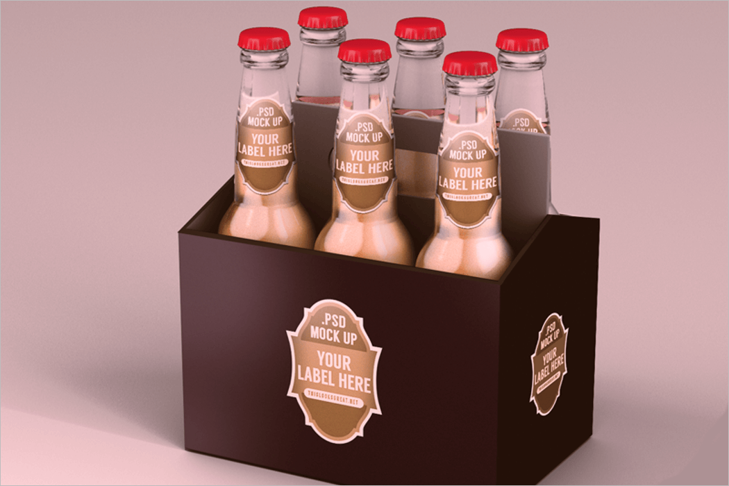 Beer Packaging Mockup Free