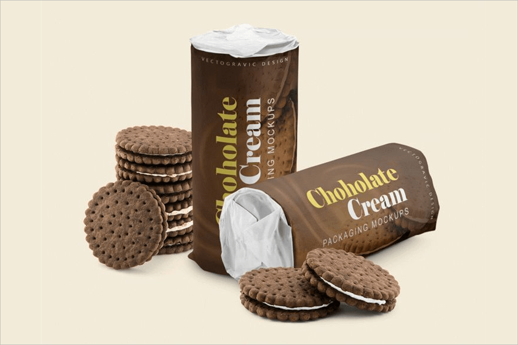 Biscuit Packaging Mockup