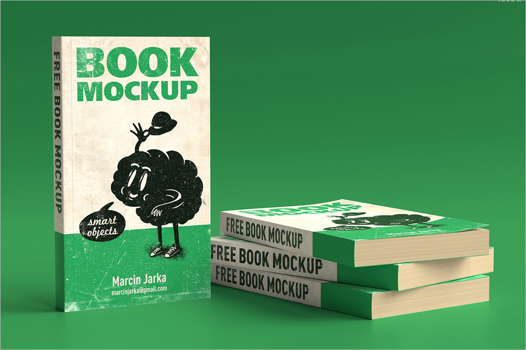 Book Mockup Template PSD